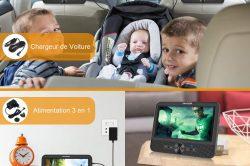 Le lecteur de DVD portable est-il légal à l'avant d'une voiture?